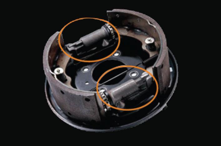 hệ thống phanh tang trống thủy lực 2 dòng trợ lực chân không