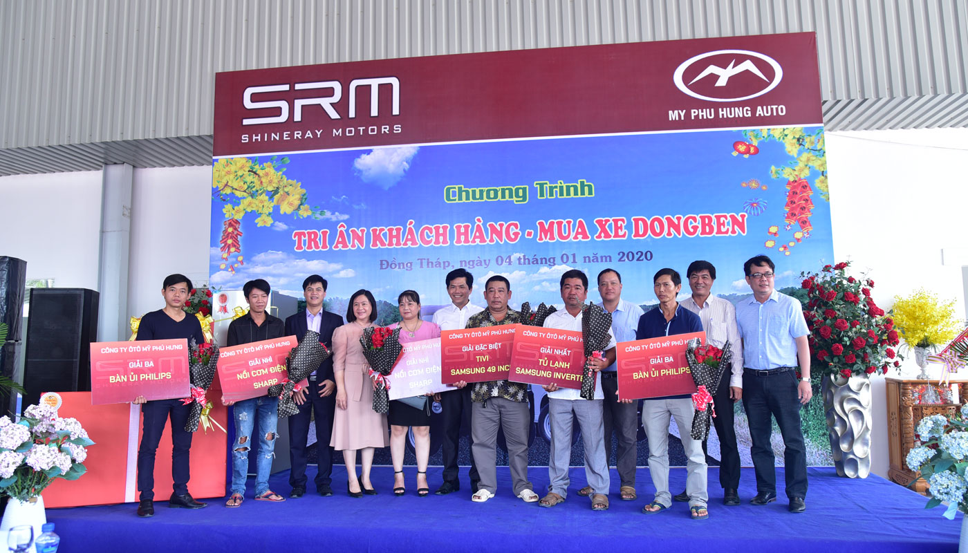 kết quả chương trình tri ân khách hàng mua xe DongBen